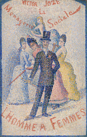 Georges Seurat - The Ladies' Man (L'Homme à femmes), 1890