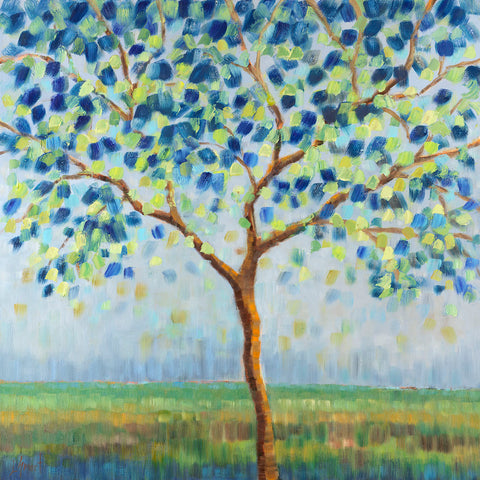 Tree in Blue -  Libby Smart - McGaw Graphics