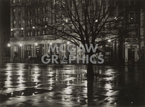 Reflections—Night (New York), 1897 -  Alfred Stieglitz - McGaw Graphics
