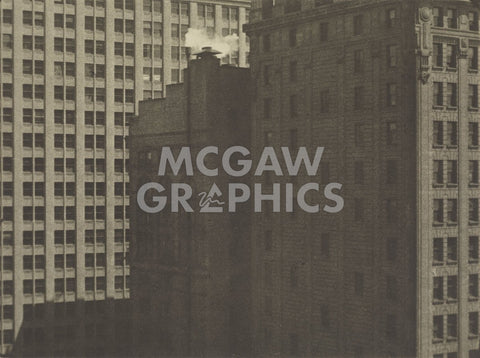 Manhatta - Skyscrapers in Shadows, Negative date: 1920 -  Charles Sheeler - McGaw Graphics