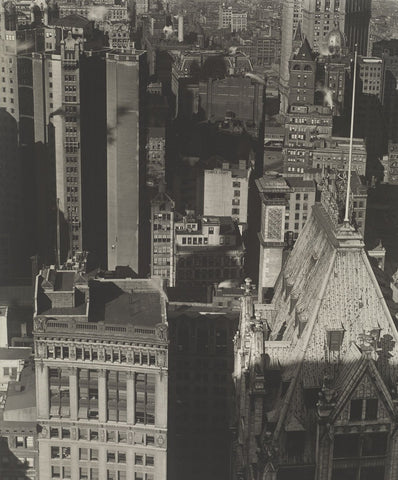 Charles Sheeler - New York, Temple Court, distant view, Negative date: 1920