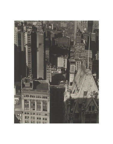 New York, Temple Court, distant view, Negative date: 1920 -  Charles Sheeler - McGaw Graphics