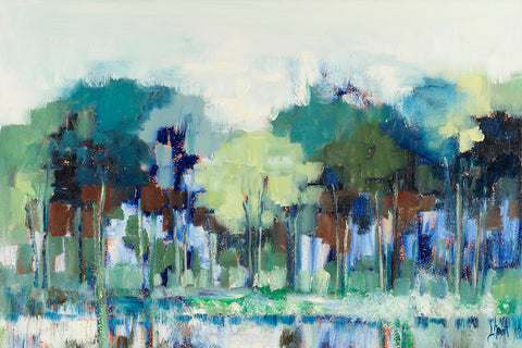 Blue Green Tree Reflections -  Libby Smart - McGaw Graphics