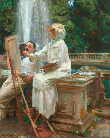 The Fountain, Villa Torlonia, Frascati, Italy, 1907 -  John Singer Sargent - McGaw Graphics