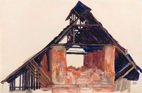 Egon Schiele - Old Gable, 1913