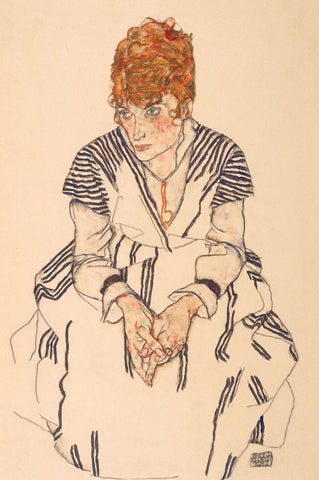 Portrait of the Artist's Sister-in-Law, Adele Harms, 1917 -  Egon Schiele - McGaw Graphics