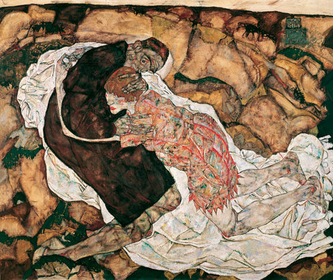 Death and the Maiden, 1915 -  Egon Schiele - McGaw Graphics