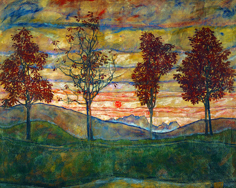 Four Trees, 1918 -  Egon Schiele - McGaw Graphics