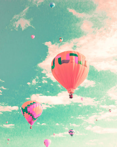 Summer Photography - Colorful Hot Air Balloons