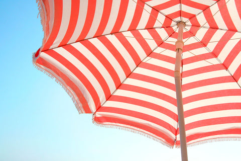 Beach Umbrella and Sky -  Summer Photography - McGaw Graphics