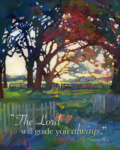 Almost Spring II (The Lord will guide you always) -  Karen Mathison Schmidt - McGaw Graphics