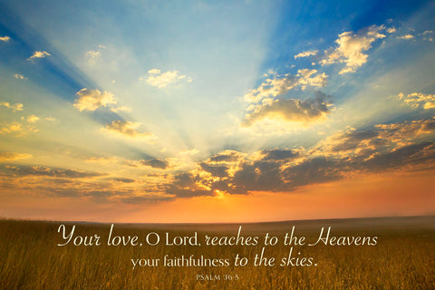 Montana Sunrise (Your love, O Lord...) -  Jason Savage - McGaw Graphics