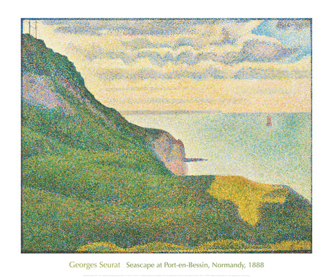 Seascape at Port-en-Bessin, Normandy, 1888 -  Georges Seurat - McGaw Graphics