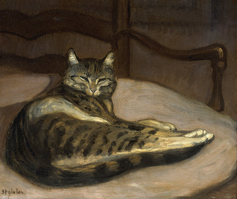 Cat on an Armchair -  Theophile-Alexandre Steinlen - McGaw Graphics