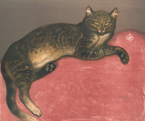 Winter: Cat on a Cushion, 1909 -  Theophile-Alexandre Steinlen - McGaw Graphics