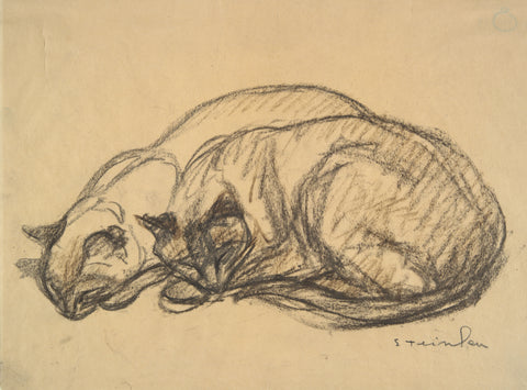 Two Cats, ca. 1920 -  Theophile-Alexandre Steinlen - McGaw Graphics