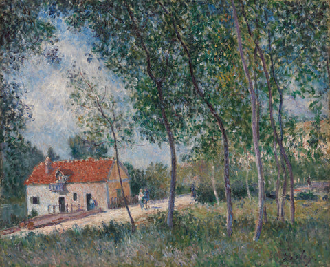The Road from Moret to Saint-Mammès, 1883–85 -  Alfred Sisley - McGaw Graphics