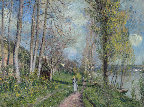 Banks of the Seine at By, c. 1880-81 -  Alfred Sisley - McGaw Graphics