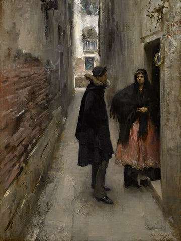 A Street in Venice, c. 1880-82 -  John Singer Sargent - McGaw Graphics