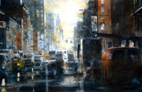 West 14th Street, rain -  Tim Saternow - McGaw Graphics