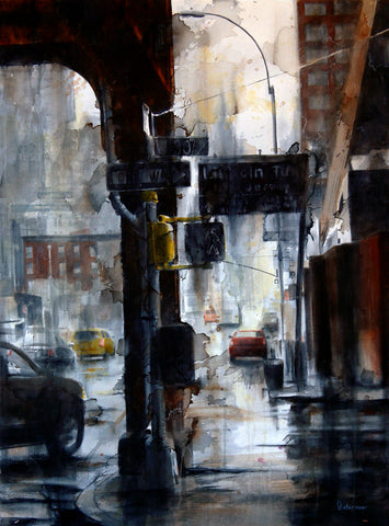 Lincoln Tunnel & 10th Avenue, rain -  Tim Saternow - McGaw Graphics