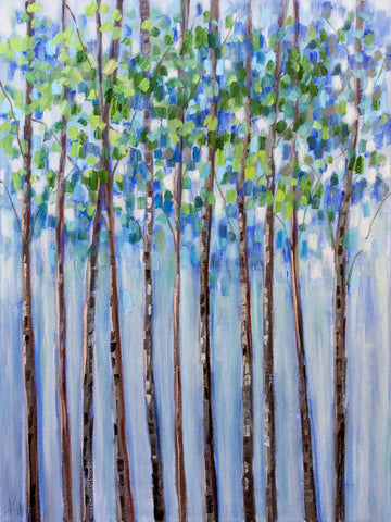 Trees in Blue -  Libby Smart - McGaw Graphics