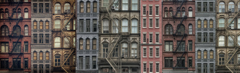 NYC Apartments in a Row -  Norm Stelfox - McGaw Graphics