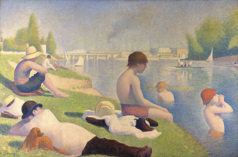 Bathers at Asnieres, 1884 -  Georges Seurat - McGaw Graphics