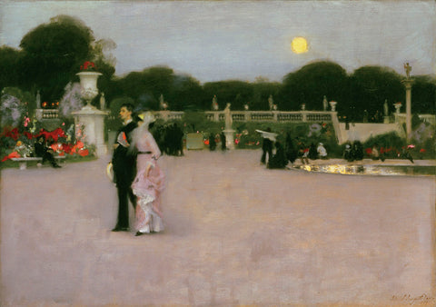 In the Luxembourg Gardens, 1879 -  John Singer Sargent - McGaw Graphics