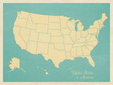 USA Map (blue) -  Sparx Studio - McGaw Graphics