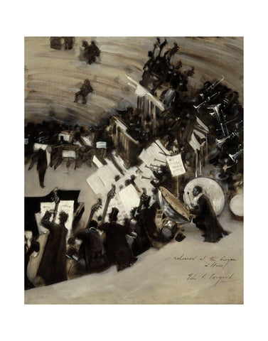 Rehearsal of the Pasdeloup Orchestra at the Cirque d'Hiver, about 1879–80 -  John Singer Sargent - McGaw Graphics