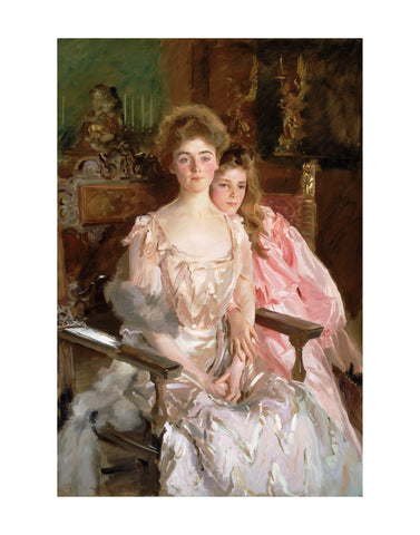Mrs. Fiske Warren (Gretchen Osgood) and Her Daughter Rachel, 1903 -  John Singer Sargent - McGaw Graphics