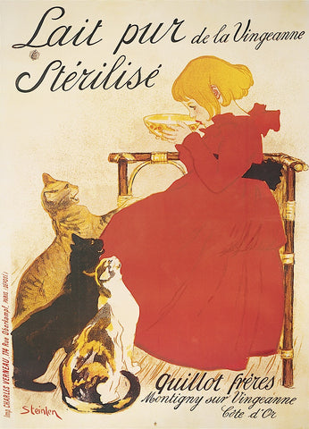 Lait Sterilise -  Theophile-Alexandre Steinlen - McGaw Graphics