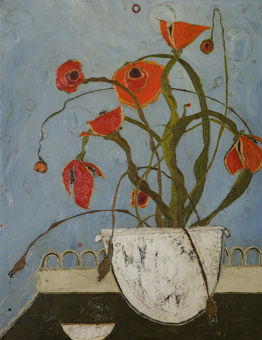 Karen Tusinski - Poppies on Pastry Cart