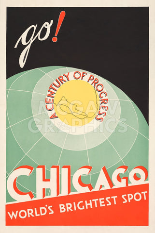 Chicago. World's brightest spot. Go! -  The Cuneo Press - McGaw Graphics