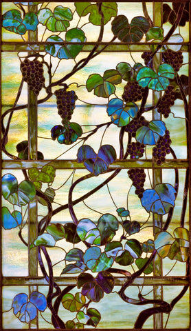 Grapevine Panel, circa 1902 –15 -  Louis Comfort Tiffany - McGaw Graphics