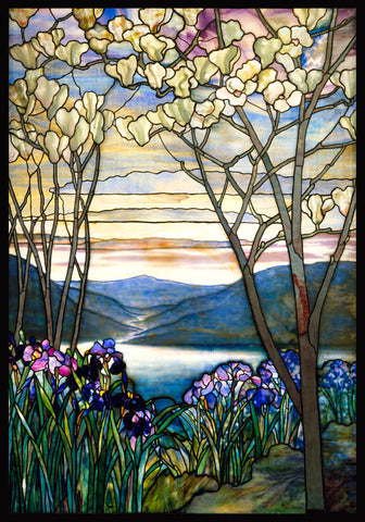 Louis Comfort Tiffany - Magnolias and Irises, ca. 1908