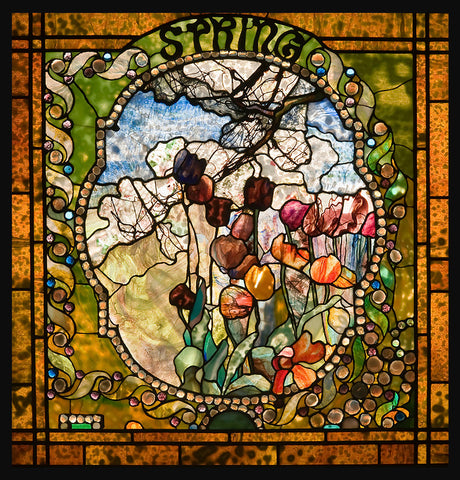 Louis Comfort Tiffany - Spring panel from the Four Seasons