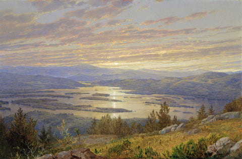 Lake Squam from Red Hill, 1874 -  William Trost Richards - McGaw Graphics