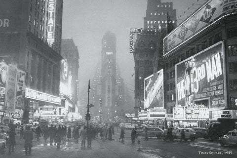 Times Square, 1949 -  Vintage Photography - McGaw Graphics