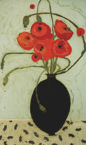 Karen Tusinski - Swirling Poppies
