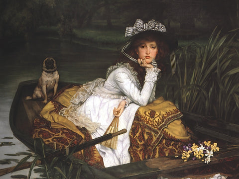 Lady in a Boat -  Jacques-Joseph Tissot - McGaw Graphics