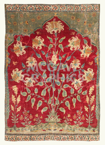 Fragment of a Saf Carpet, 1600-1650 -  Unknown Artist - McGaw Graphics