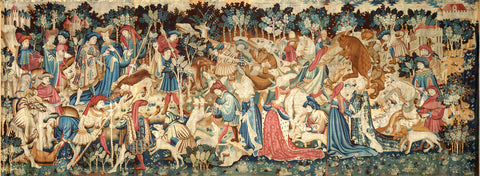 The Devonshire Hunting Tapestries; Boar and Bear Hunt, (late 1425-1430 (made) - 1430) -  Unknown Tapestry Artist - McGaw Graphics