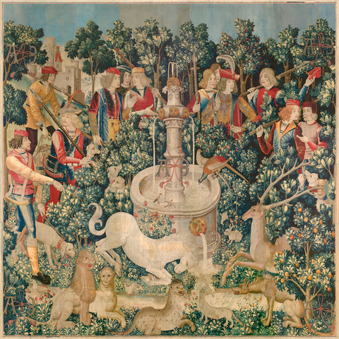 Unknown Tapestry Artist - The Unicorn is Found, one of the series of seven tapestries, between circa 1495 and circa 1505
