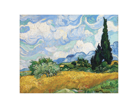 Wheat Field with Cypresses, 1889 -  Vincent van Gogh - McGaw Graphics