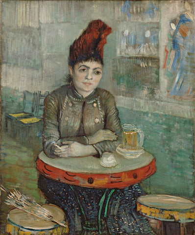 Vincent van Gogh - In the Cafe: Agostina Segatori in Le Tambourin, 1887