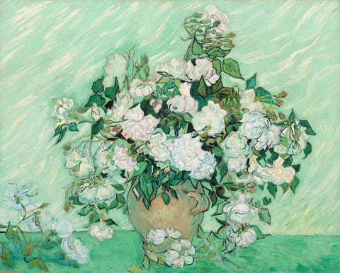 Vincent van Gogh - Vase with Pink Roses, 1890