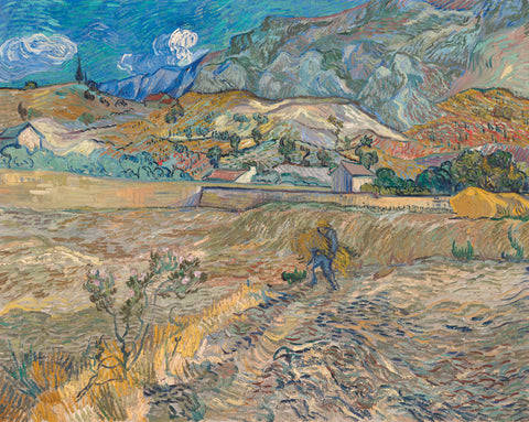 Vincent van Gogh - Landscape at Saint-Re_my (Enclosed Field with Peasant), 1889