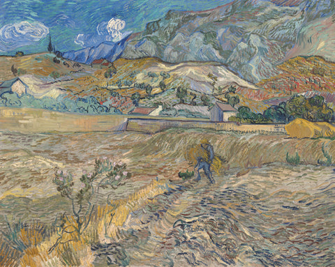 Vincent van Gogh - Landscape at Saint-Re?my (Enclosed Field with Peasant), 1889